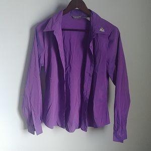 Solutions Mens Purple Button Down Blazer